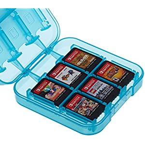 Best Epic Trends 514v54PM63L._SS300_ Amazon Basics Game Storage Case for 24 Nintendo Switch Games - 3.4 x 3.4 x 1 Inches, Blue
