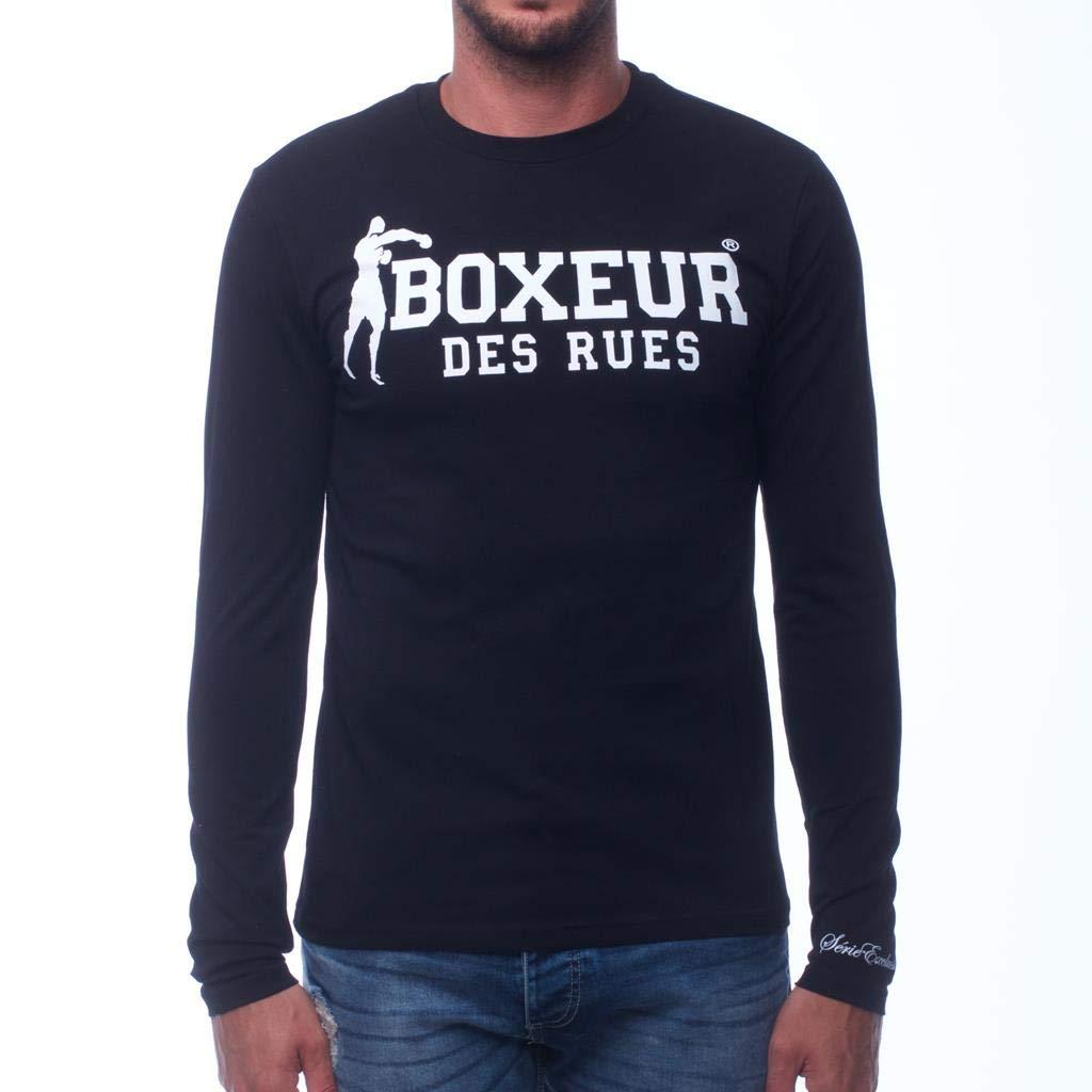 BOXEUR DES RUES Serie Exclusive, T-Shirt A Manica Lunga con Logo Uomo