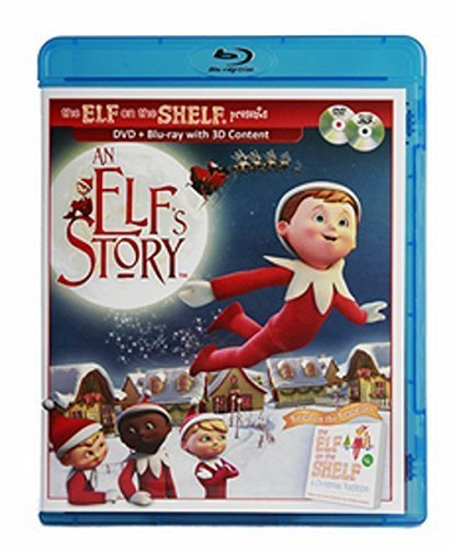Elf On The Shelf - An Elfs's Story DVD Blue Ray with 3D Content -