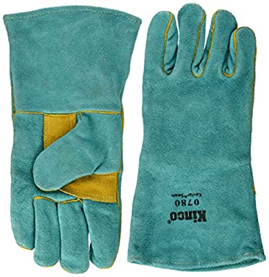 Kinco 035117078055 Welding Prem Green Cowhide Work Gloves, Large