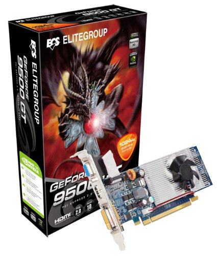 ECS N9500 GTC-1GQS-F nVidia GeForce 9500 GT 1 GB DDR2 VGA/DVI/HDTV PCI-Express Video Card HDMI PCI-Express Video Card