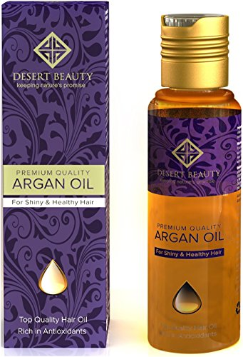 Premium Argan Oil for Hair Treatment, Conditioning & Hair Loss Prevention, Provides Anti-Aging Properties (120 ML/4 OZ) Moroccan Oil Formula for Healthy Hair by Desert Beauty - Exclusive Hair Formula