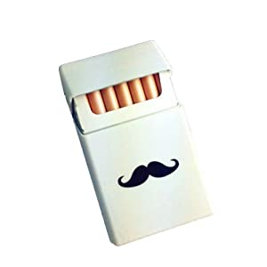 HENGSONG Homme Étui à Cigarettes en Silicone Léger Cigarette Barbe Boîte Cigare Housse