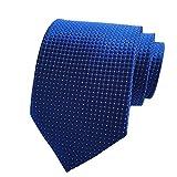 Pisces.goods New Royal Blue Checked Jacquard Woven Men's Tie Necktie