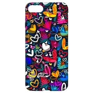 Apple iPhone 7 Plus Heart Illustration Design Back Case - Multi Color
