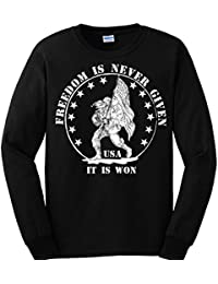 """<span class=""""a-offscreen"""">[Sponsored]</span>Sons of Libery Freedom is never given, it is won. Military . Long Sleeve Shirt"""