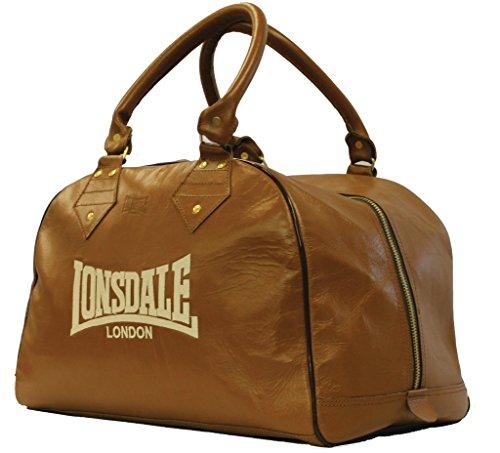 Londsdale, Borsone da boxe Authentic Classic Holdall, Marrone (Vintage Brown), Standard