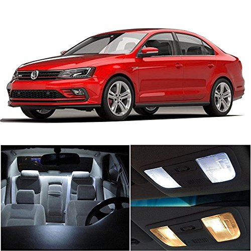 cciyu 13 Pack White LED Bulb Replacement fit for 2011-2017 VW VOLKSWAGEN Jetta LED Interior Lights Accessories Replacement Package Kit