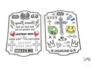 YG ENTERTAINMENT (YG ENTERTAINEMENT) Pegatinas de Tatuaje Mini ...