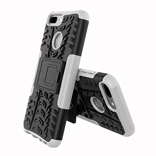 GR Para Huawei Honor 9 Lite (5.65 pulgadas) Hyun Pattern Layer Hybrid Armor Kickstand 2 en 1 funda ( Color : Black ) White