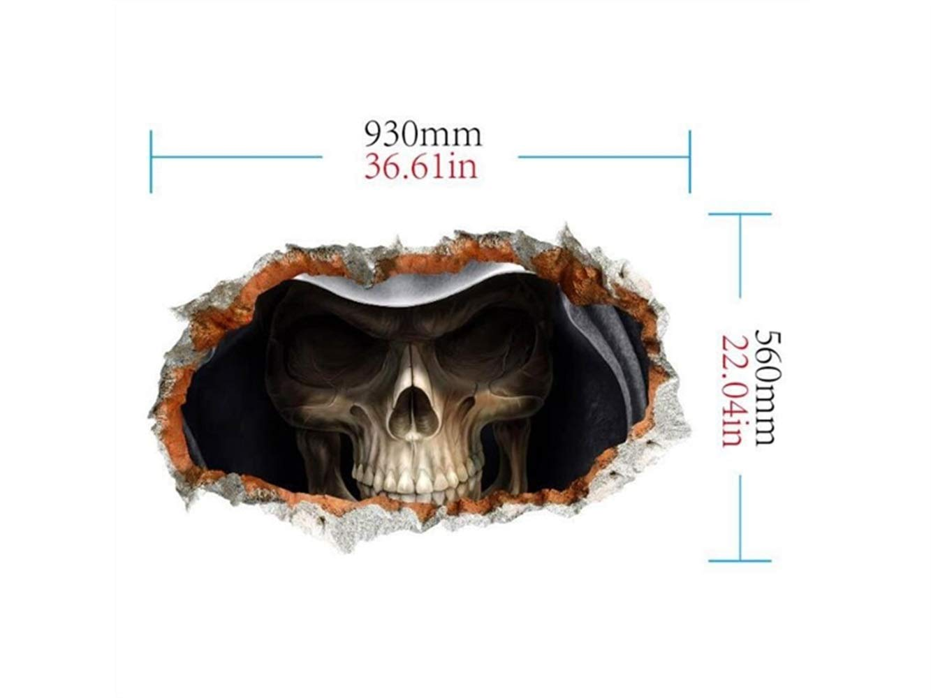 Yuchoi Funny Halloween 3D Horror Wall Mirror Window Stickers Removable