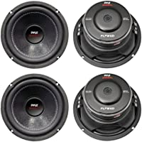 4) New PYLE PLPW6D 6 2400W Car Audio Subwoofers Subs Woofers DVC Stereo 4-Ohm
