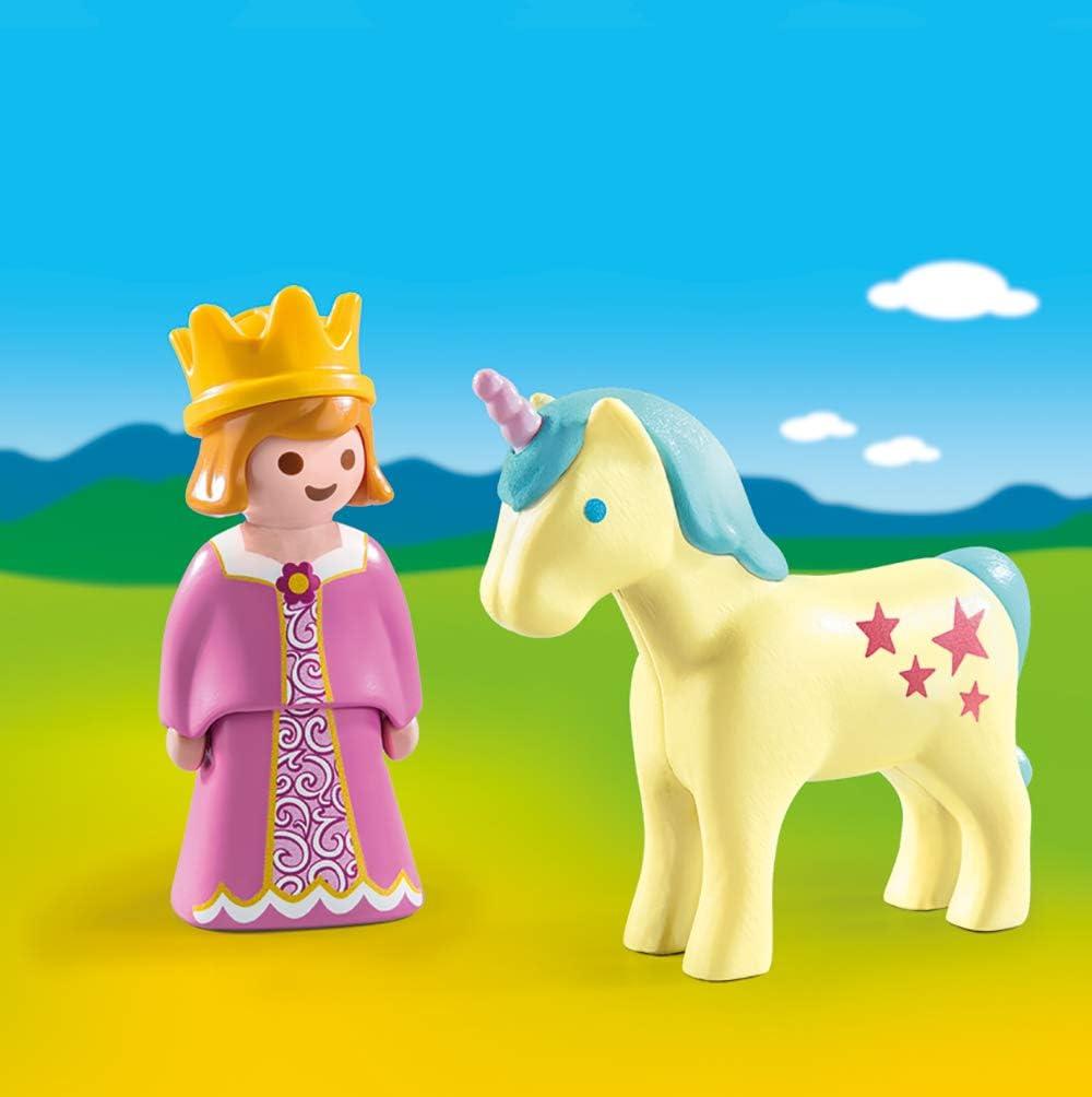 Multicolor 70127 Talla /única PLAYMOBIL PLAYMOBIL-70127 1.2.3 Princesa Unicornio