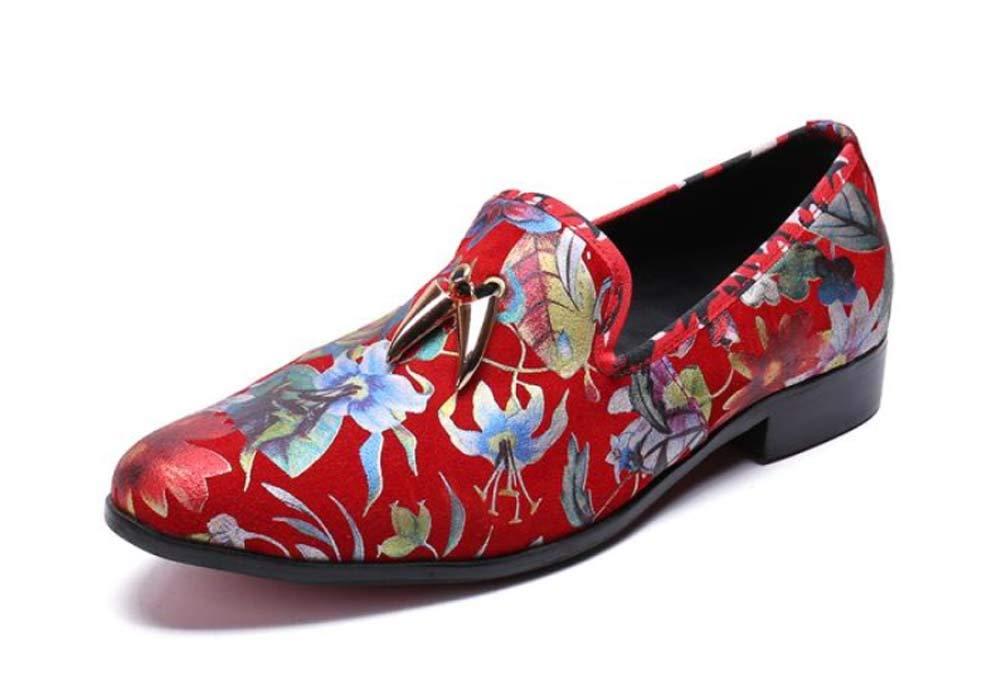 GLSHI Männer Neuheit Schuhe Breathable Casual Schuhe Printing Britischen Hochzeitsschuhe