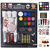 Halloween Makeup Ultimate Family Party Pack (36 PCS) with Fake Blood Gel, Liquid Latex for Costume Makeup, Stage Makeup and Zombie Makeup.