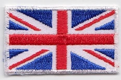 Union Jack National Flag United Kingdom England Embroidered Iron On Patch Sew On Badge Applique Country National Flag
