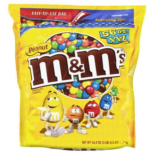 M & M's Peanut 56 Ounce Bag (Pack of 2)