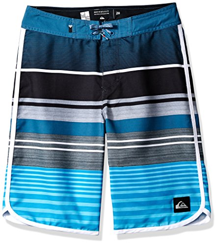 - Quiksilver Big Boys' Eye Scallop Kids 19 Swim Trunks, Atomic Blue, 30/16