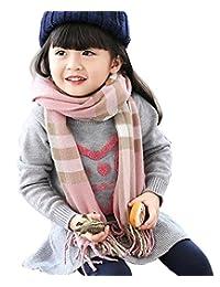 Kids Winter Scarf Soft Classic Warm Cashmere-like Scarves Fashion Plaid Scarf for Girls