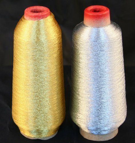 d & Silver Metallic Machine Embroidery Threads - 3000 yards (Gold Tone Thread)