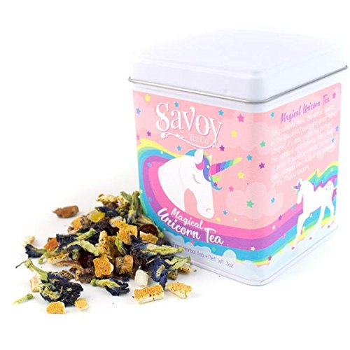 Savoy Tea Co.-Magical Unicorn Tea-Herbal Loose Leaf Tea (3oz Tin) (Tea Magical)