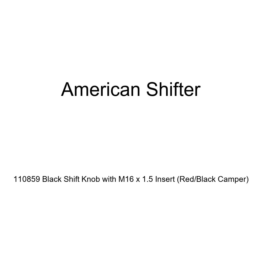 Red//Black Camper American Shifter 110859 Black Shift Knob with M16 x 1.5 Insert