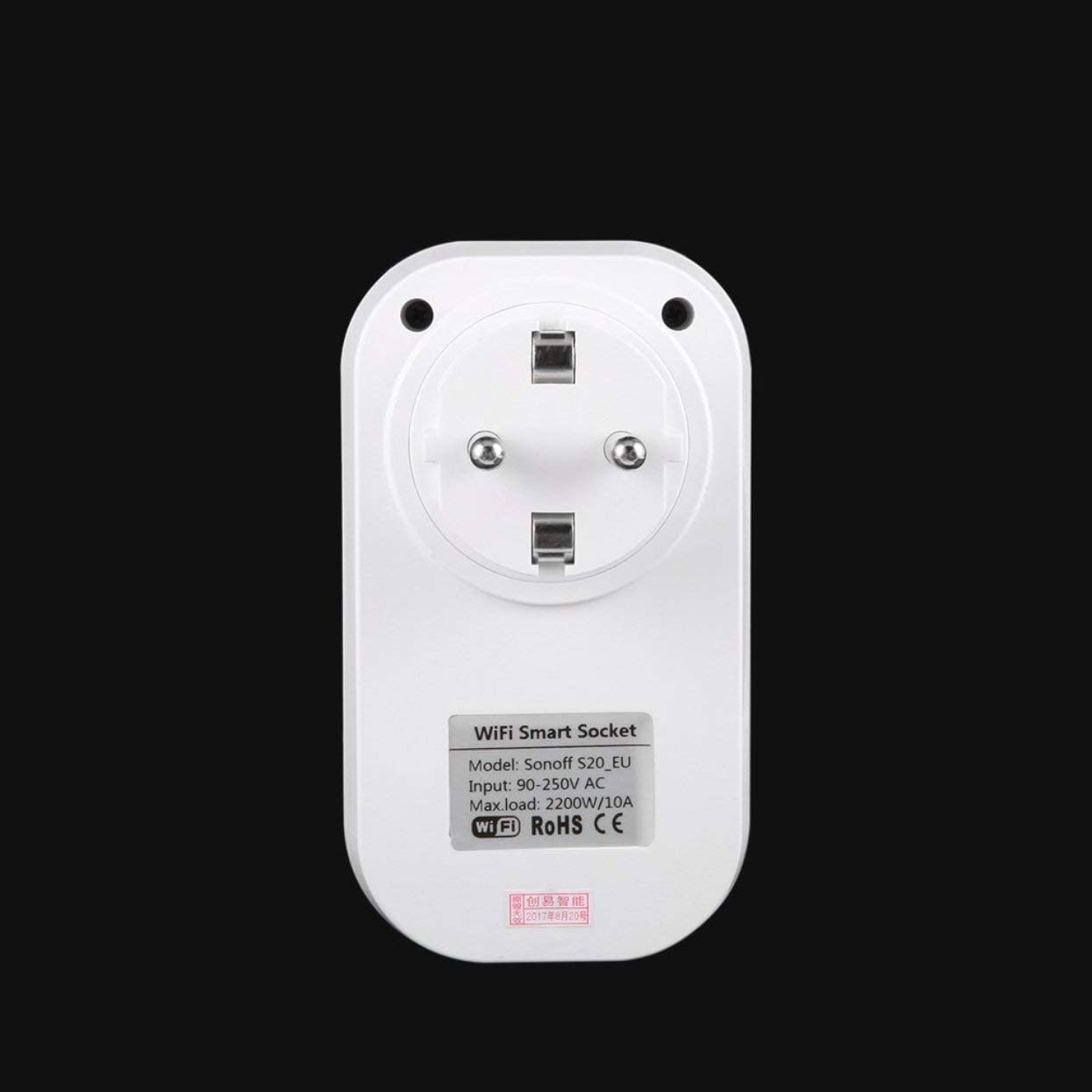 T/él/éphone S20/ Wifi Wireless T/él/écommande Smart Home Prise EU//US//UK pour sonoff