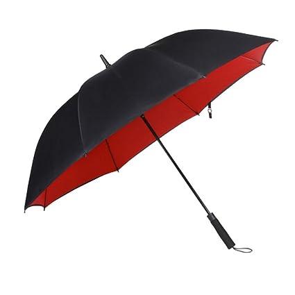NAN Sombrilla paraguas grande reforzada para hombre Sombrilla paraguas doble paraguas paraguas paraguas automática (Color