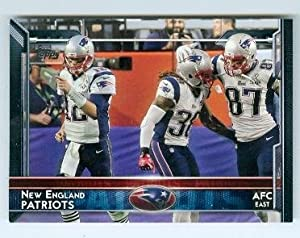 Rob Gronkowski and Tom Brady football card (New England Patriots Super Bowl Champion) 2015 Topps #264
