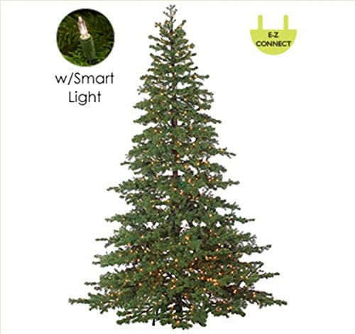 (Northlight 7.5' Layered Pine Instant Power Technology Single Plug Christmas Tree - Multi LED Lights)