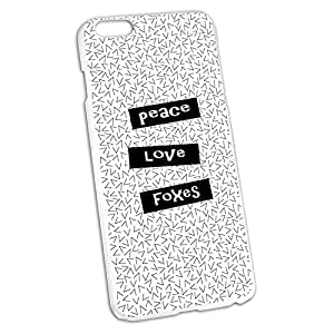Peace Love Foxes Snap On Hard Protective Case for Apple iPhone 6 6s Plus