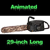 Life Size REALISTIC ANIMATED CHAINSAW Zombie Hunter Serial Killer...