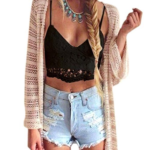 Willtoo Women Crochet Tank Camisole Lace Vest Bra - Spandex Bustier Crop Top