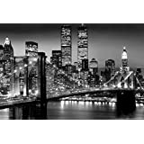 Twin Towers at night - Black and White - World Trade Center 24x36 Poster
