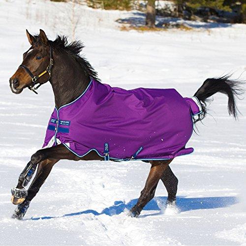 - Horseware Amigo Bravo12 Turnout 100g 78 Purple/Nav