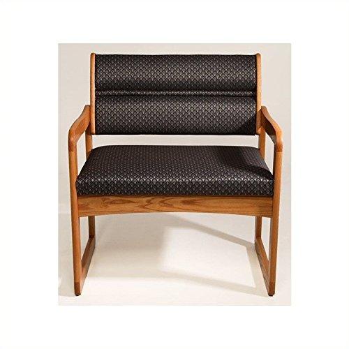 UPC 888173084337, Dakota Wave Sled Base Bariatric Chair in Medium Oak - Leaf Green Designer