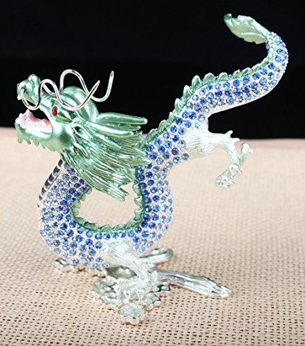 (Dragon Figurine Display Dragon Home Decor Figure Gift (1312.5 CM (LH), Blue))