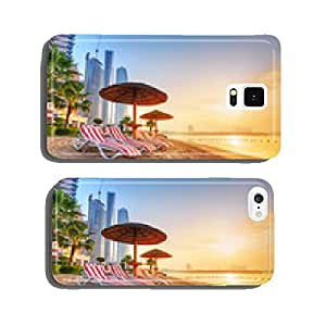 Sunrise on the beach at Perian Gulf in Abu Dhabi cell phone cover case iPhone6