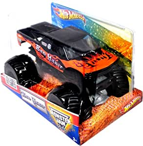 "Hot Wheels Monster Jam 1:24 Scale Die Cast Metal Body Official Monster Truck 2011 Series #T8523 - Joe Sylvester BAD HABIT with Monster Tires, Working Suspension and 4 Wheel Steering (Dimension : 7"" L x 5-1/2"" W x 4-1/2"" H)"