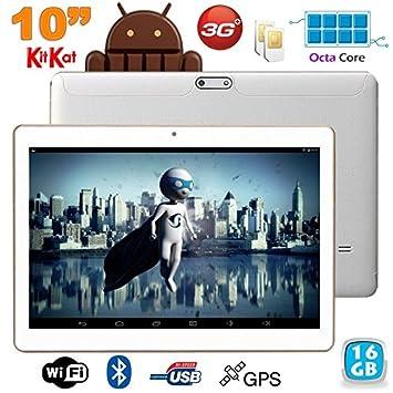 27a54f0a8ff8d7 Tablette 3G 10 pouces Octa Core 2GHz 2Go RAM Android Dual SIM GPS 16Go
