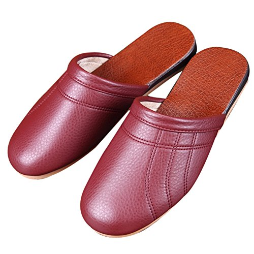 Women Wine Red Femme Chaussons pour TELLW aCqBwt