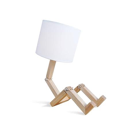 Roymaster Madera Maciza Fácil Creativo LED Lámpara de ...