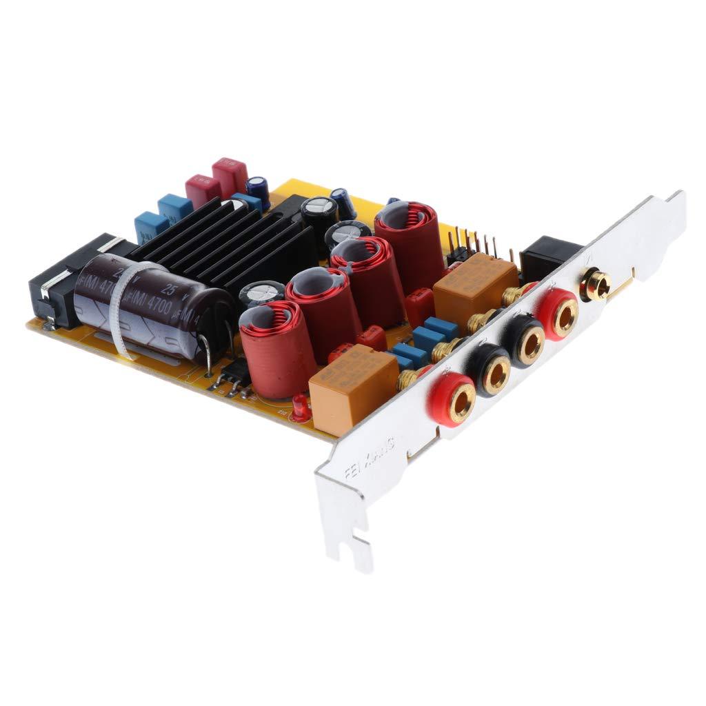 perfk Dual Canales 50W + 50W Amplificadores de Potencia para Altavoz del Sistema de Audio DIY