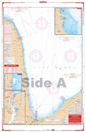 Waterproof Charts, Standard Navigation, 74 South Lake Huron & Saginaw Bay (Saginaw Marina)