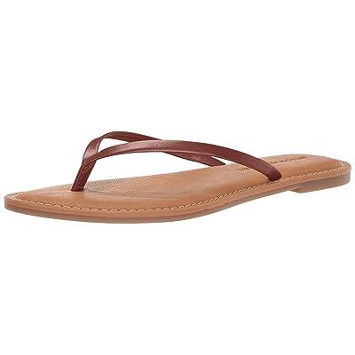 Essentials Women's Thong Sandal, Brown, 8 B US: Clothing