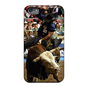Bumper Hard Phone Case For Apple Iphone 6 With Unique Design Beautiful Bull Riding Pictures Iphonecase88