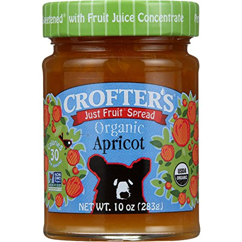 Crofter's Organic Just Fruit Spread, Apricot, 10 oz Jar (Organic Apricot Spread)