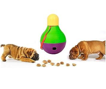 Linnuo Juguetes Interactivos Perros Dispensadora de Comida Perros y Gatos Juguetes Entrenamiento IQ Mascotas Juguetes Bola Animal, S: Amazon.es: Hogar