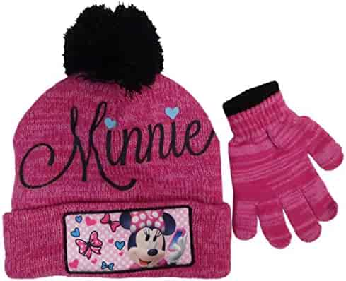 32b4042c025eb Disney Infant   Toddler s Minnie Mouse Hat and Mitten Winter Set
