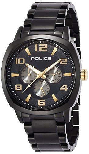 POLICE watch San Marino Black Gold 14582JSB-02M Men's [regular imported goods]